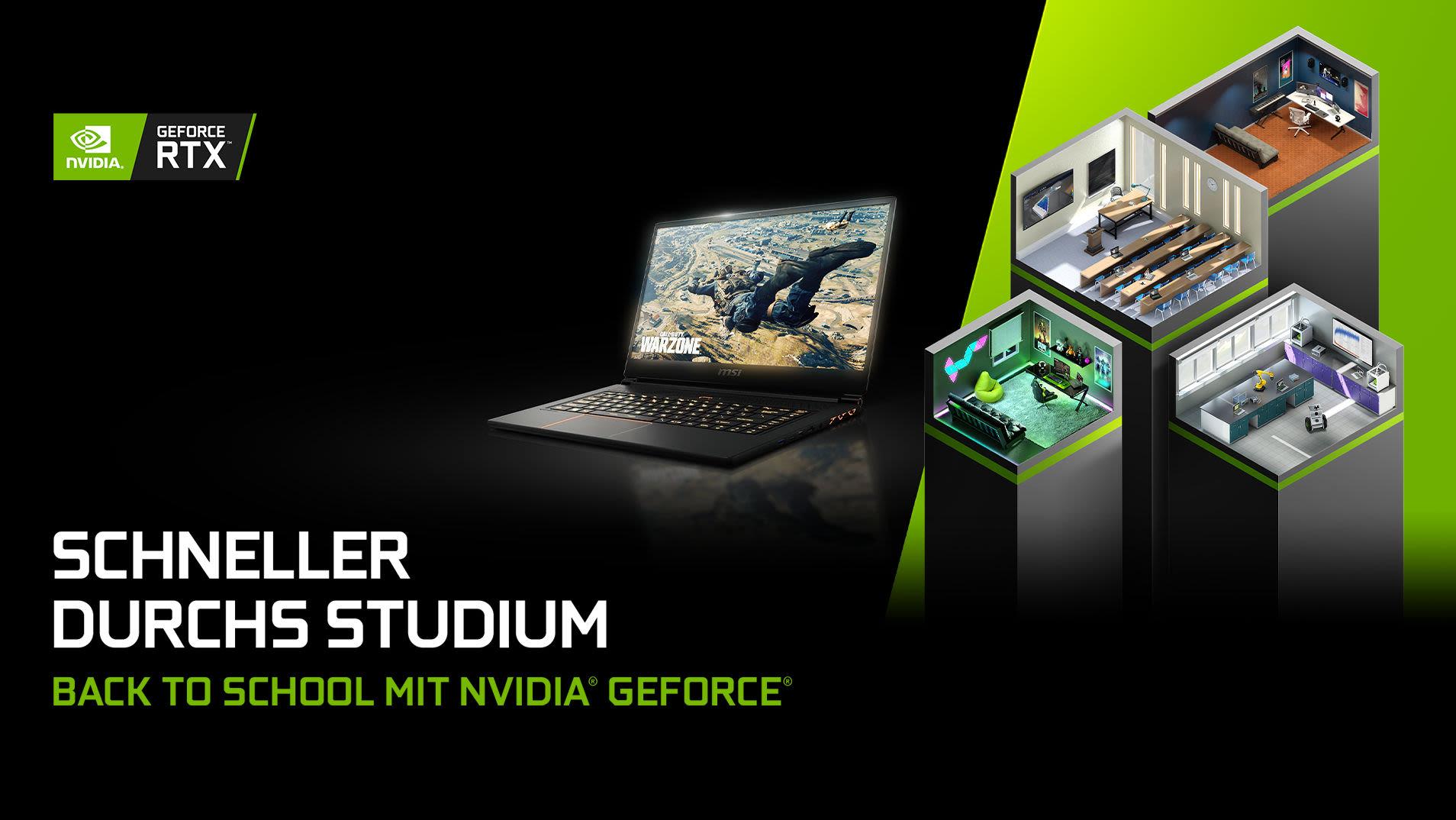 Laptop / Notebook, Gaming, Student, Schüler, NVIDIA Urheber: NVIDIA