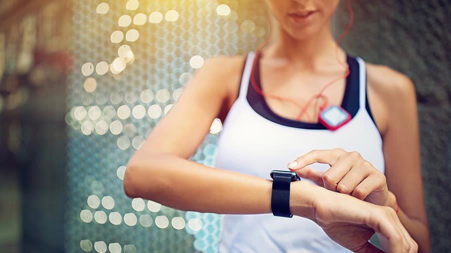 Frau Smartwatch Fitness